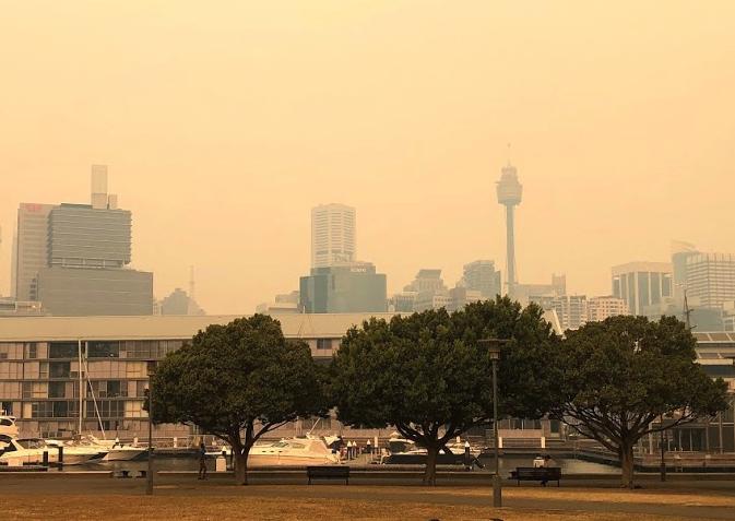 Smoky Sydney Skyline