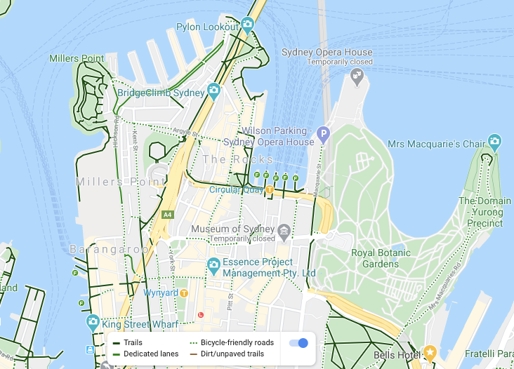 Google Maps with Cycling Layer and Legend