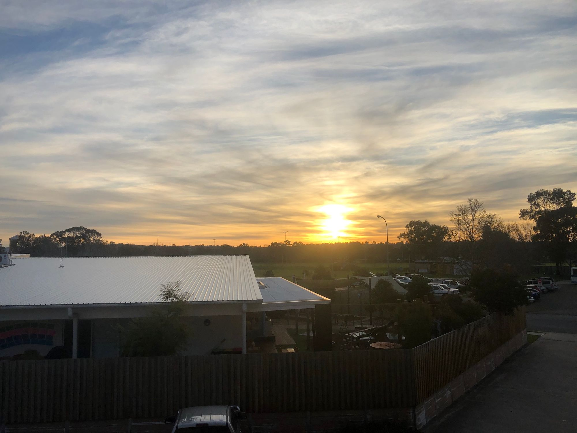 Sunset over Singleton