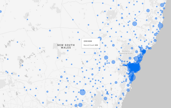 Visualising Sydney/NSW Rents